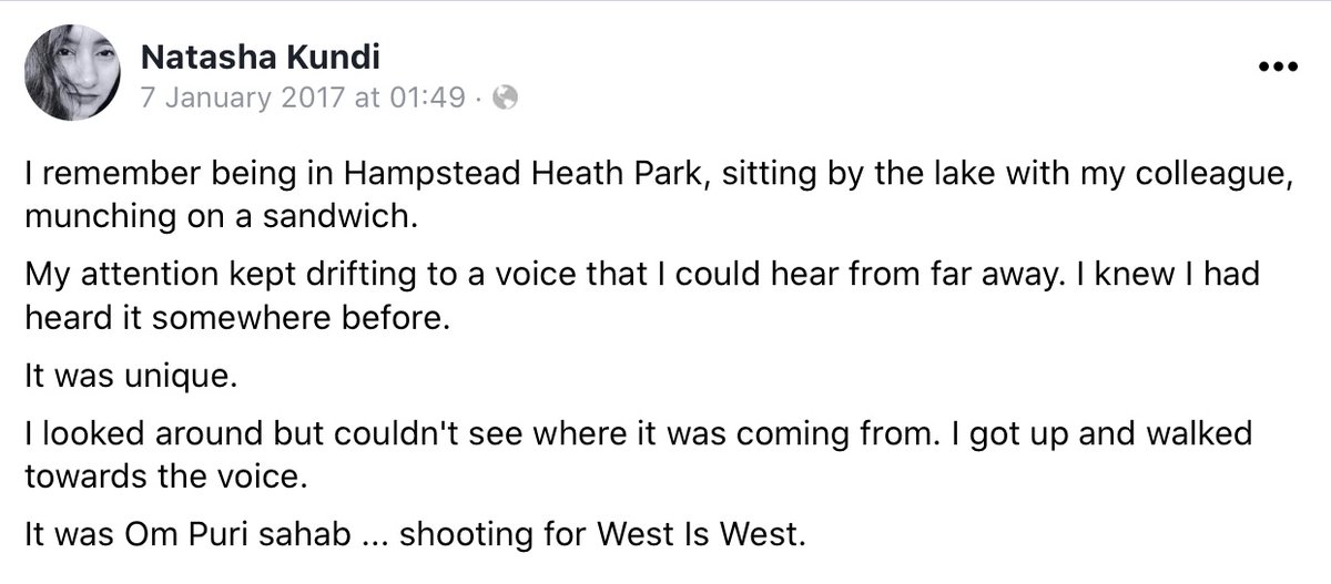 This came up in my Facebook memories today 😢 #OmPuri   (I think it was west is west, not sure)