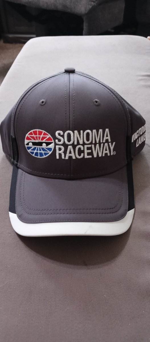Look what just arrived. Thank you @RaceSonoma. The hat looks great. #12DaysOfGiving