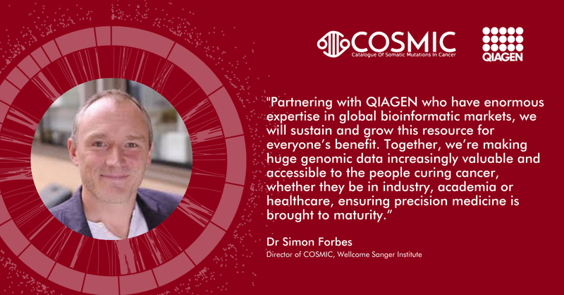 A new partnership for @cosmic_sanger and @Qiagen to ensure longevity and development of a world-leading data resource for the #cancerresearch community