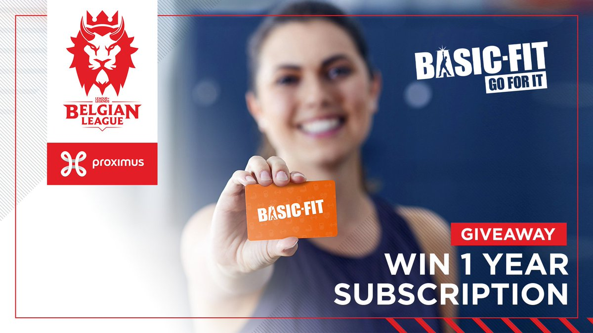 Win a 1-year subscription to Basic-Fit, our new partner!  How to enter (only for Belgium)  1. Follow @lolesportsbe (so we can DM you)  2. Retweet this post  3. Let us know in the comments your #1 motivation for working out #BL2021 #BasicFit https://t.co/shJlydVMXi