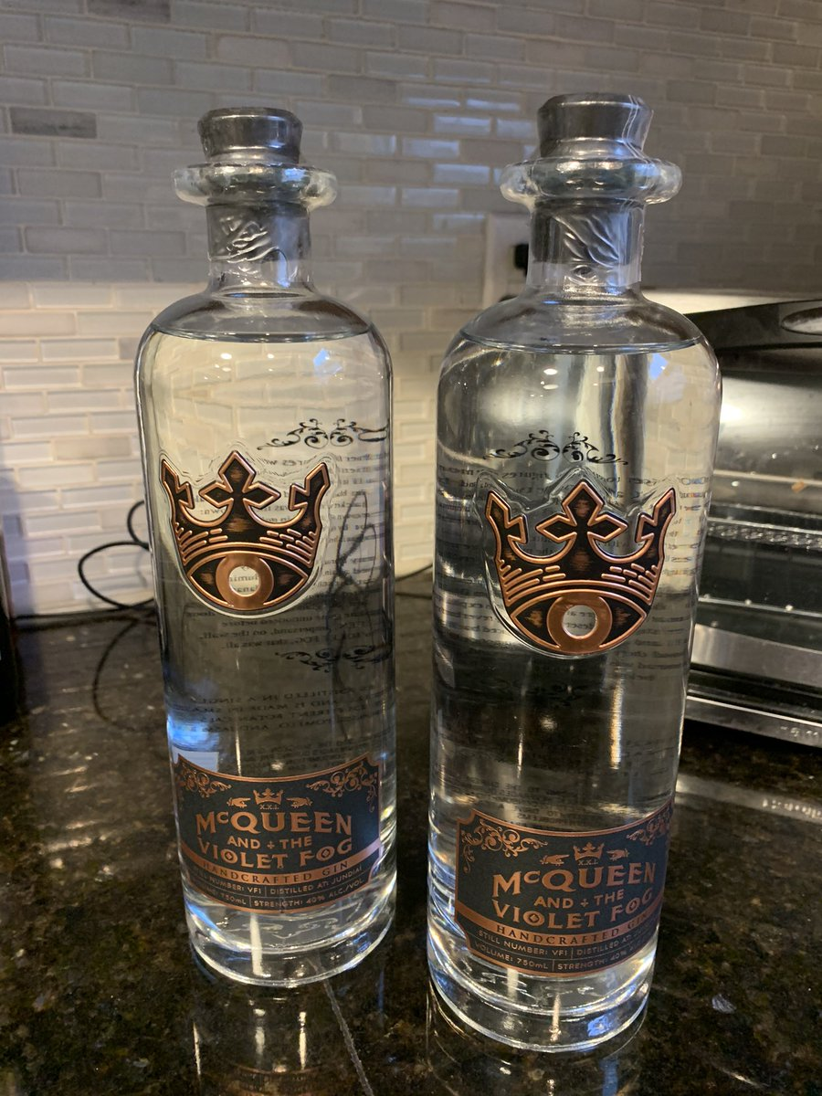 Bottle numbers 23 and 24 of the world's greatest gin. @McQueenVF Join me on Tuesday's for some #Gin and #Warzone  #McQueenTeam