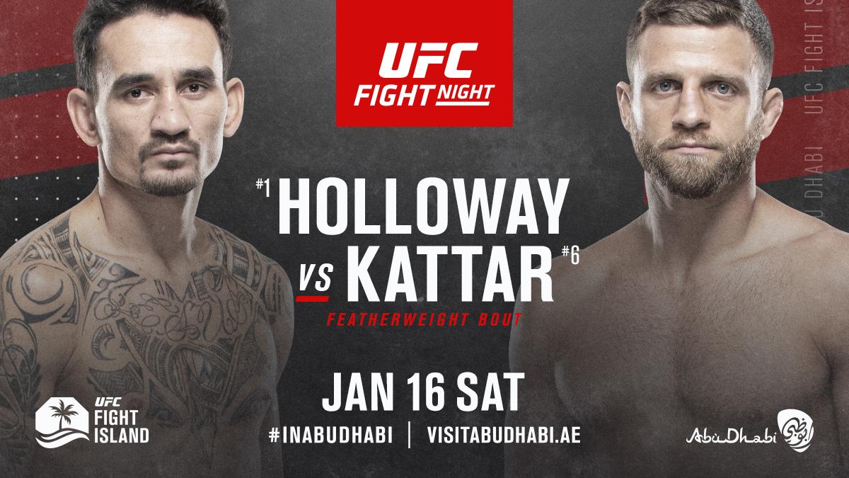 Hawaii vs Boston! Just one week away 🌺☘️  [ #UFCFightIsland7   #InAbuDhabi   @VisitAbuDhabi ] https://t.co/ERzd3OcV7i