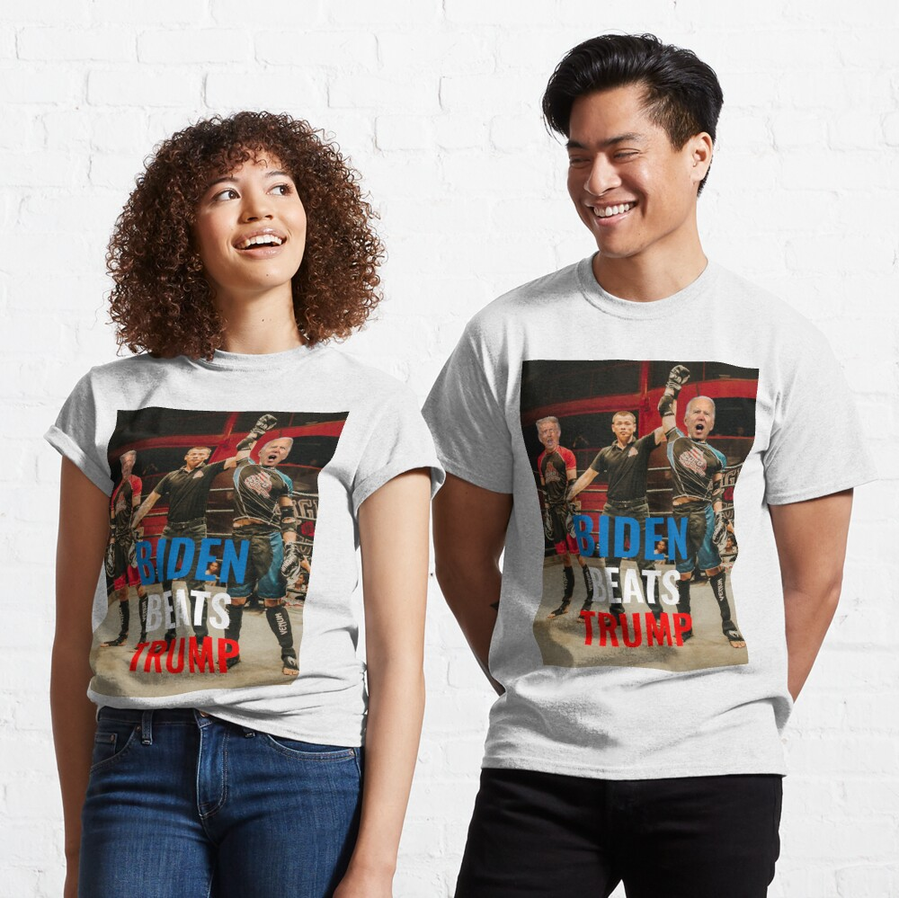 "Biden beats trump T-shirt   . #ImpeachTrumpNow #TrumpIsACriminal #Biden #BidenHarris2020 #CapitolRiots #Stickers #iwantaticket #HenryCavillSuperman Camp David John Kelly 25th Amendment Ariel Pink ""Elaine Chao"""