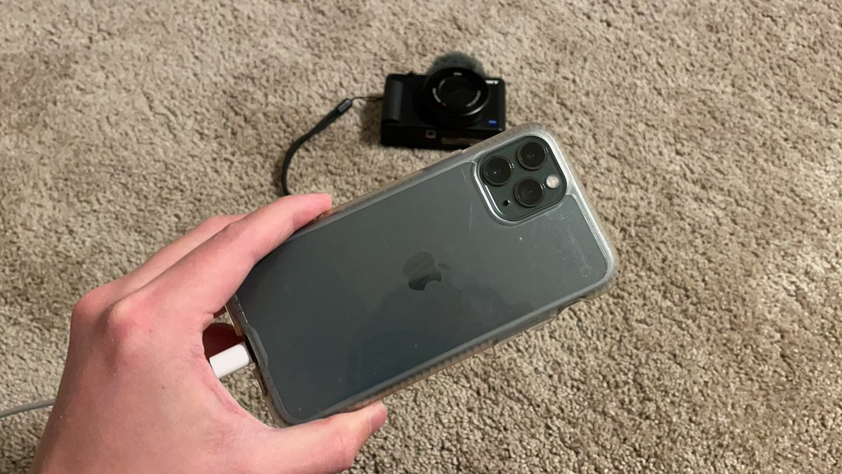 Plainrock124 - I think I'm gonna switch to my old iPhone to use as my main vlogging camera, just because I don't feel awkward recording and talking to it in public, since everyone does that with their phones in public
