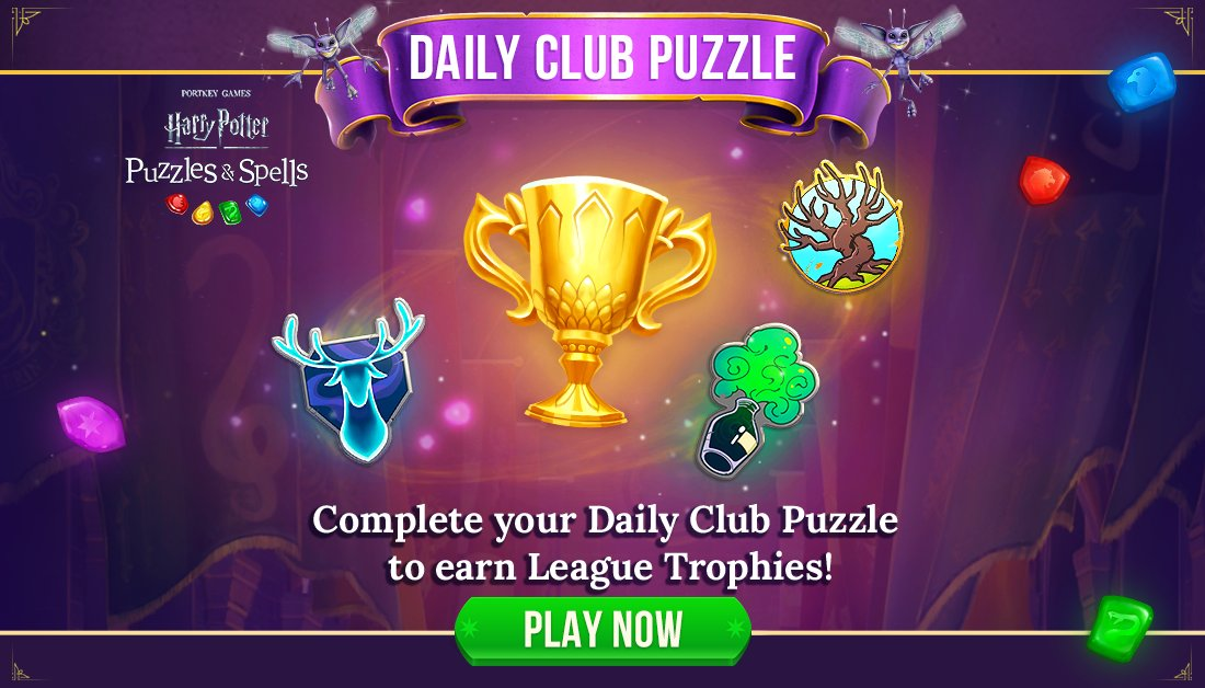 Does your Club need an extra lift up the leaderboard in your League this week? Completing the Daily Club Puzzle can earn your team up to 635 League Trophies!  Complete your Daily Club Puzzle and encourage your clubmates to do the same NOW ➡️