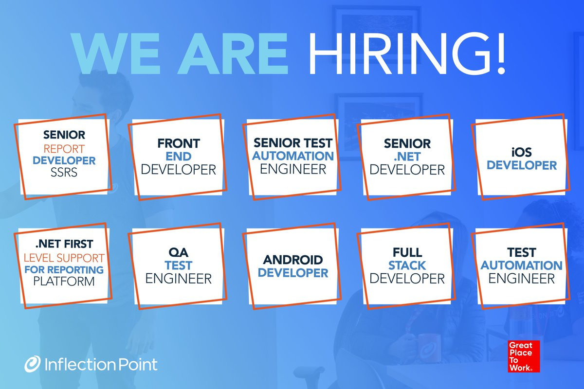 At Inflection Point we're looking for talented people and we're only missing you! Want to know more? Go to our career page and apply now: https://t.co/q25Legu6jm  Become part of our Amazing Team! #WeAreIPS https://t.co/OLJVDVVHwx