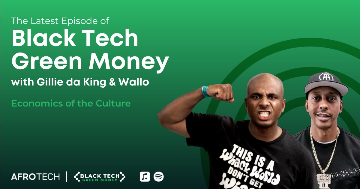 New year, more #BlackTechGreenMoney 💰  On the newest episode, our very own @will_lucas sat down with @GillieDaKid & @Wallo267—hosts of @mworthofgame—and discussed how their unique life journeys led to podcasting success + so much more!  🎙️ Listen now: