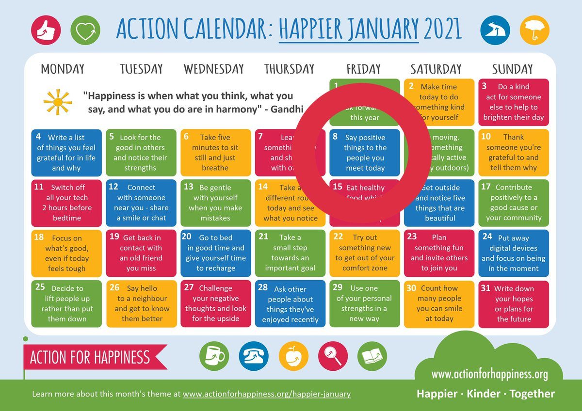 Replying to @NevilleGaunt: It's Friday #actioncalendarchallenge   Be positive with others?