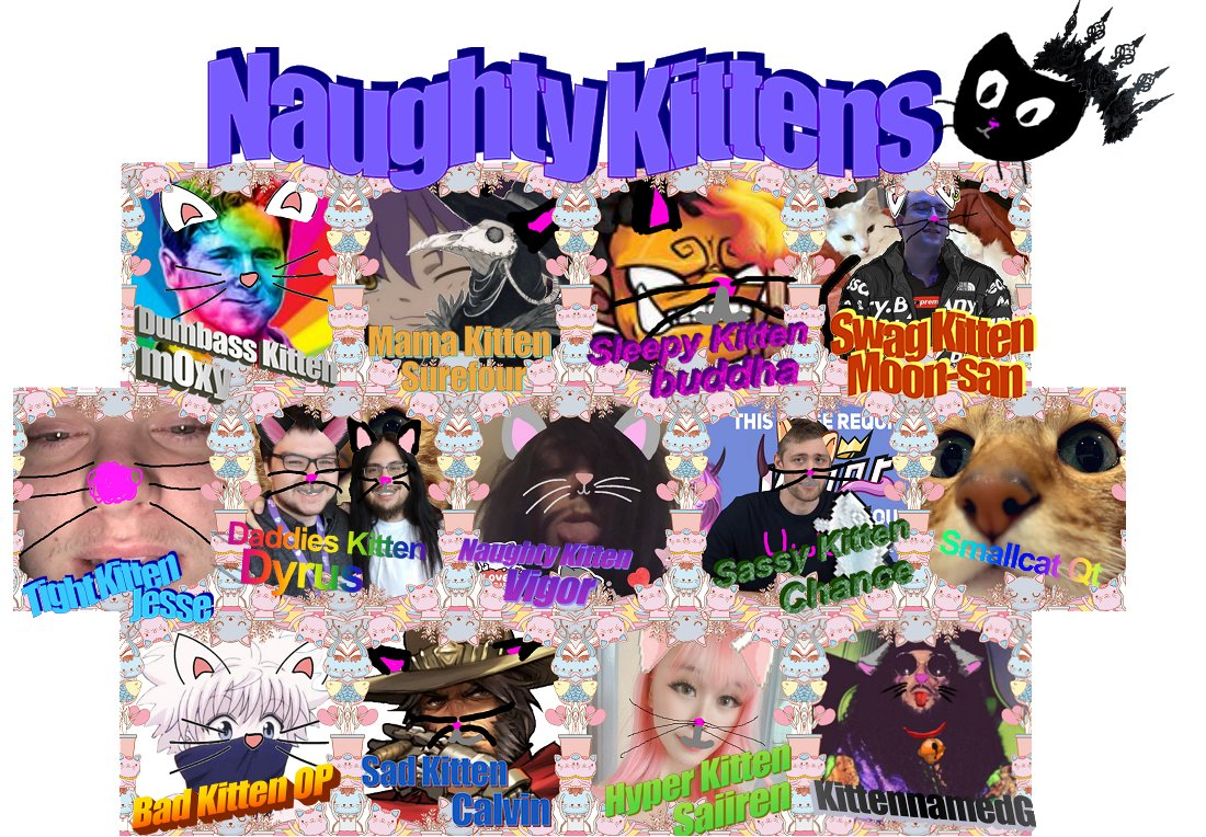 The Naughty Kittens are back. See you in 1 meowour. =^._.^= ∫