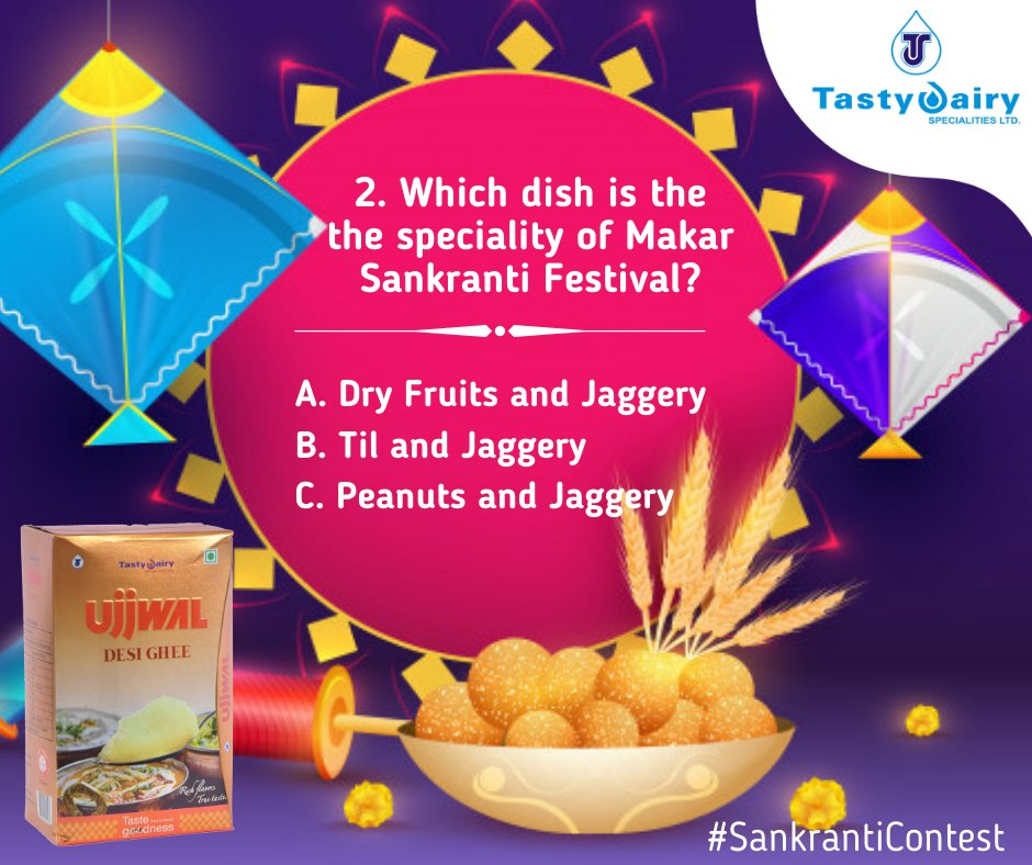 Welcome to day 2 of #Sankranticontest To enter the official contest u must follow these rules:-  and Follow our page on FB,Twitter,and Instagram 2.Share this contest on your FB wall or my story feed & tag company 3.Tag 3friends, make sure they all follow us