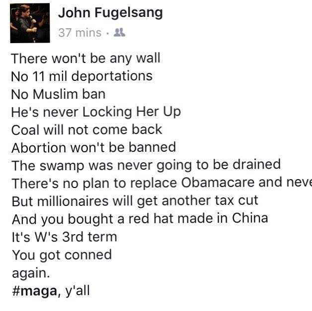 Replying to @JohnFugelsang: I posted this on fb the day Trump was inaugurated in 2017.  #TrumpConceded