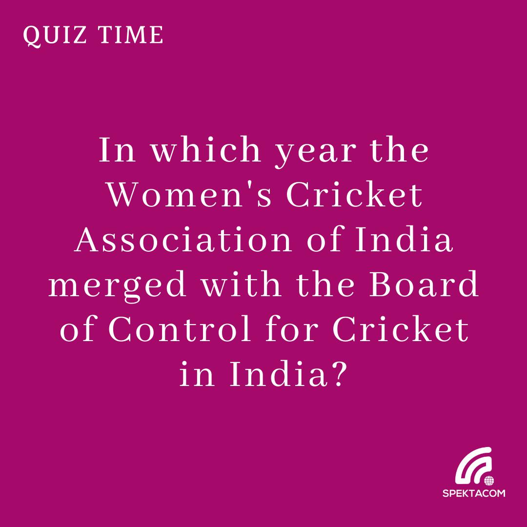#Cricket #Spektalk #Quiz 46 #FridayFun #womenscricket #BCCI