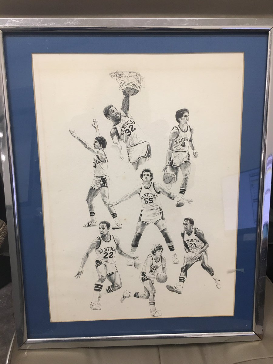 My cousin surprised me with this tonight! I am so excited! 1978 NCAA Champions  Robey, Lee, Macy, Phillips, Claytor, Shidler, Givens #BBN 💙🏀