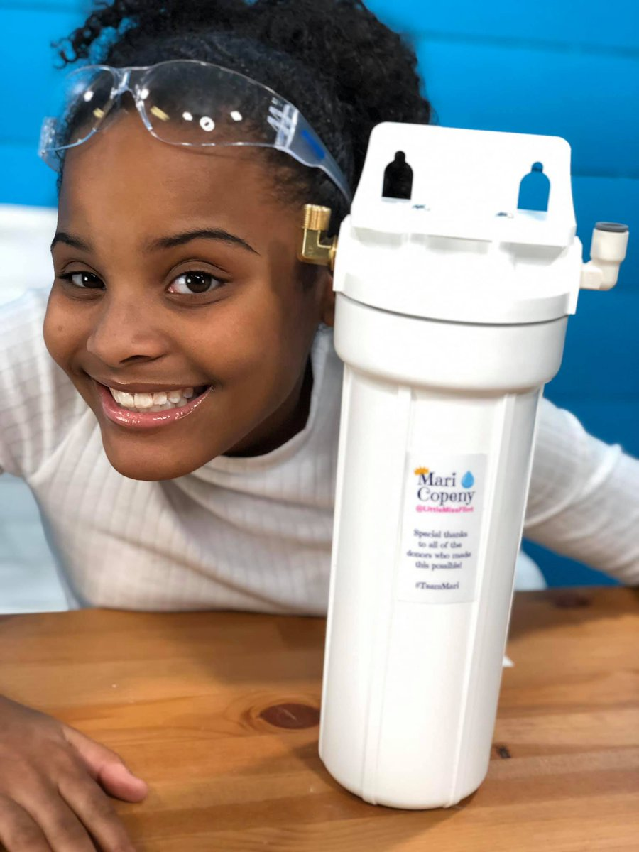 Hi, I'm Mari, I'm 13 and for the past five years I have been fighting to get clean water, not just in Flint, but in the hundreds of communities nationwide dealing with toxic water.  I have my own filter that I ship nationwide to help people.