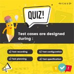 Image for the Tweet beginning: Software Testing Online Quiz  #happytesting #happylearning