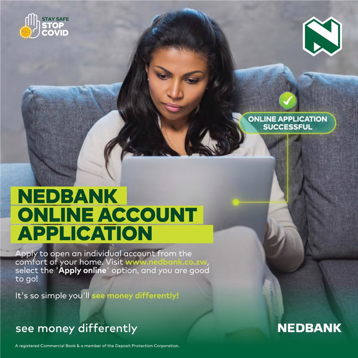 No need to visit our branch during the lockdown. Apply to open an individual account from the comfort of your home. Visit  select the 'Apply online' option, and you are good to go! #bankfromhome @NedbankZimbabwe #SeeMoneyDifferently