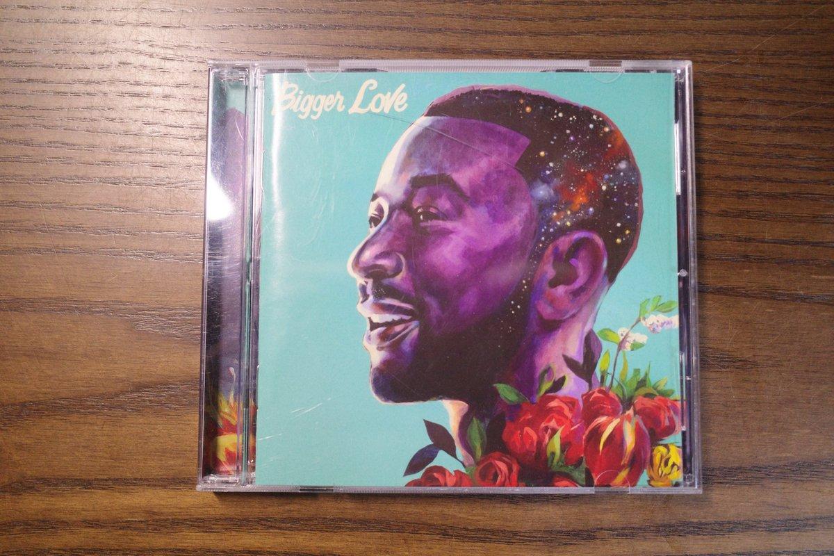 今日届いたCD。ドライブが好きだからR&Bは外せない。評判がよかったので買ってみた。  #BiggerLove #JohnLegend