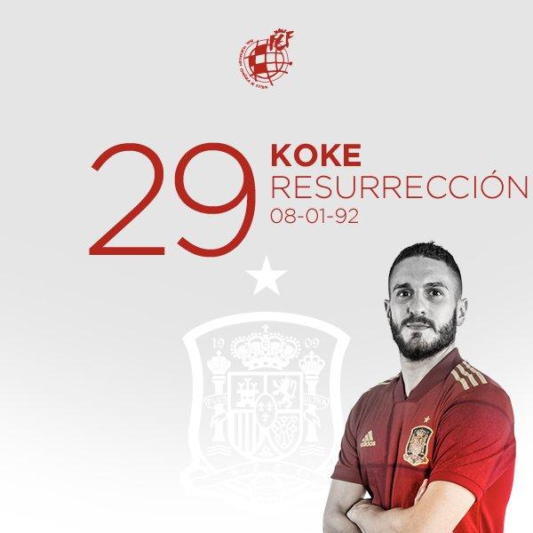 👏🏻 ¡¡Hoy tenemos doble celebración!!   🍰 Muchas felicidades al centrocampista internacional de la @SeFutbol, @Koke6, por su 29 cumpleaños.   🤗 ¡¡DISFRUTA MUCHO DE TU DÍA!!