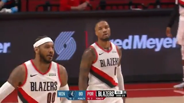 Damian Lillard tallies 39 PTS, 7 REB, 7 AST in 29 minutes of action for the @trailblazers. https://t.co/6oImT83sQW