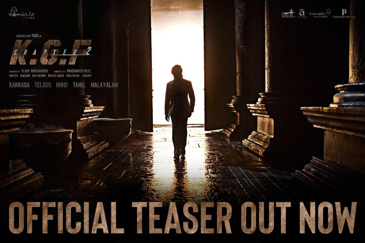 The much-awaited sequel to 'KGF Chapter 1' also stars Srinidhi Shetty, Raveena Tandon, Prakash Raj, Rao Ramesh and Malavika and others. #BlockbusterKGF2Teaser