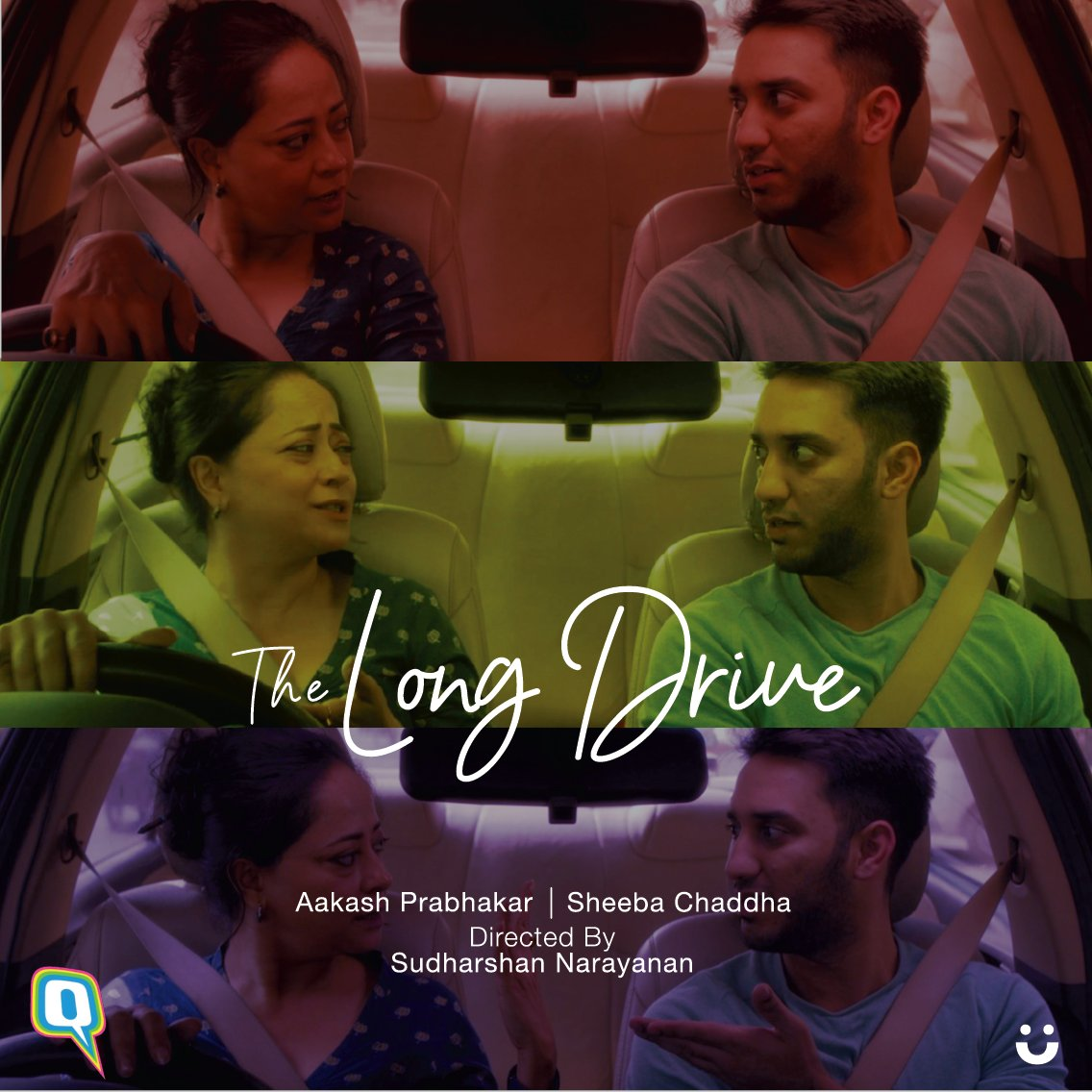 An unexpected family reunion over a plate of pav bhaji and more. #TheLongDrive starring #SheebaChadha and @aaki_hereandnow and directed by @SudharshanNara1 releases today at 6 pm. Watch this space for more!