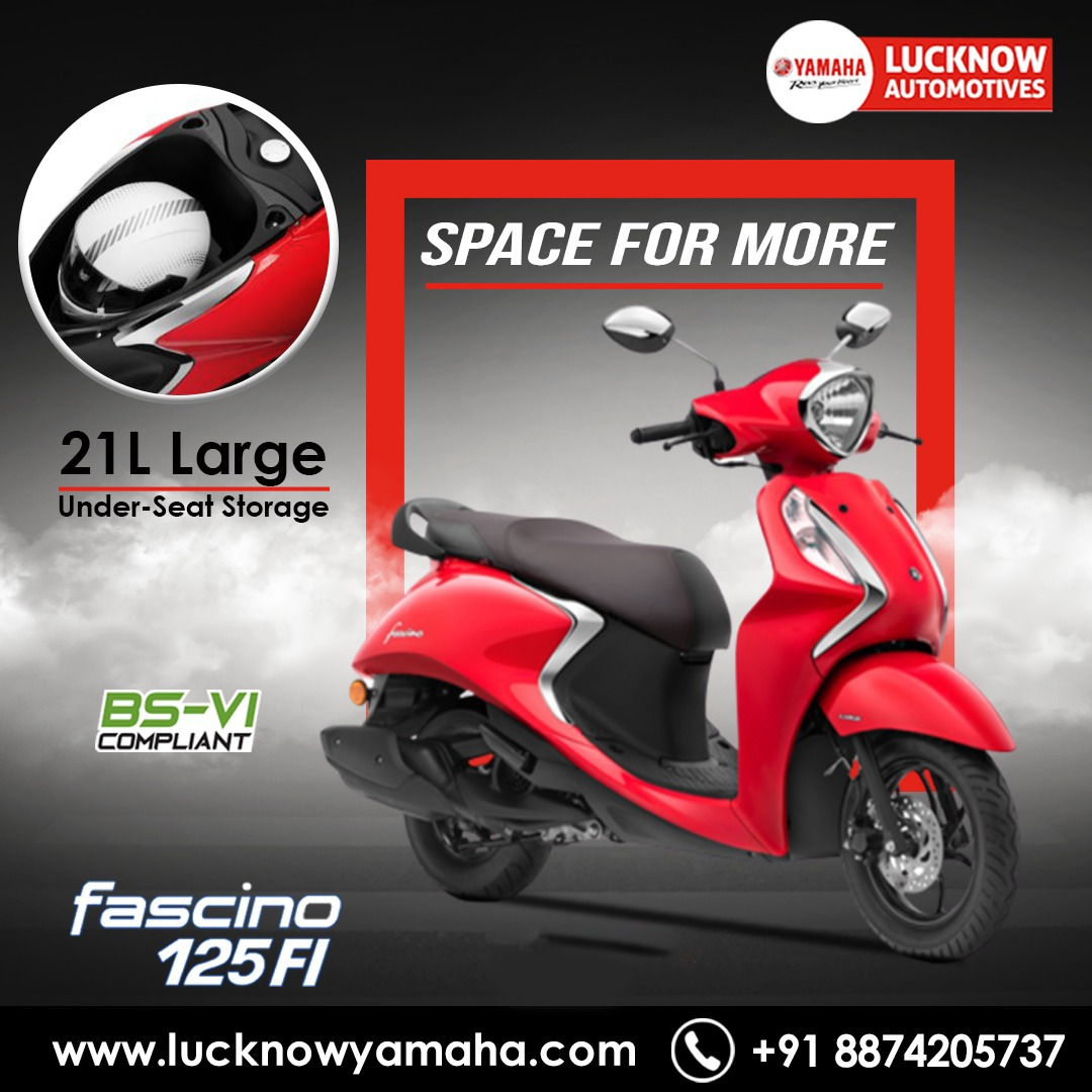 Enjoy the best ride quality on any road condition with the all-new #fascino. The 21L large storage and 110mm wide rear radial tyre.  Call Us📲:- For service:6388969783,8887745449 For sales: 8948433111 For spare: 9670419111 #Yamaha #FridayMotivation #FBvALY #IndiaFightsCorona