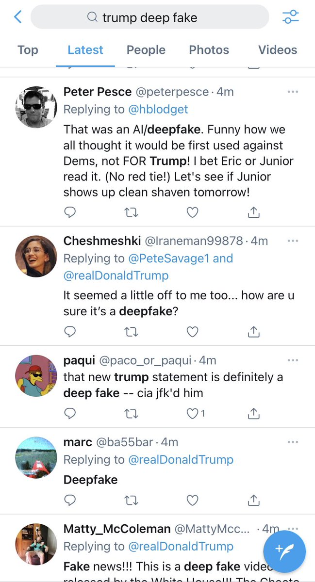 @RussInCheshire His fans all think it's a deepfake anyway #deepfakenews