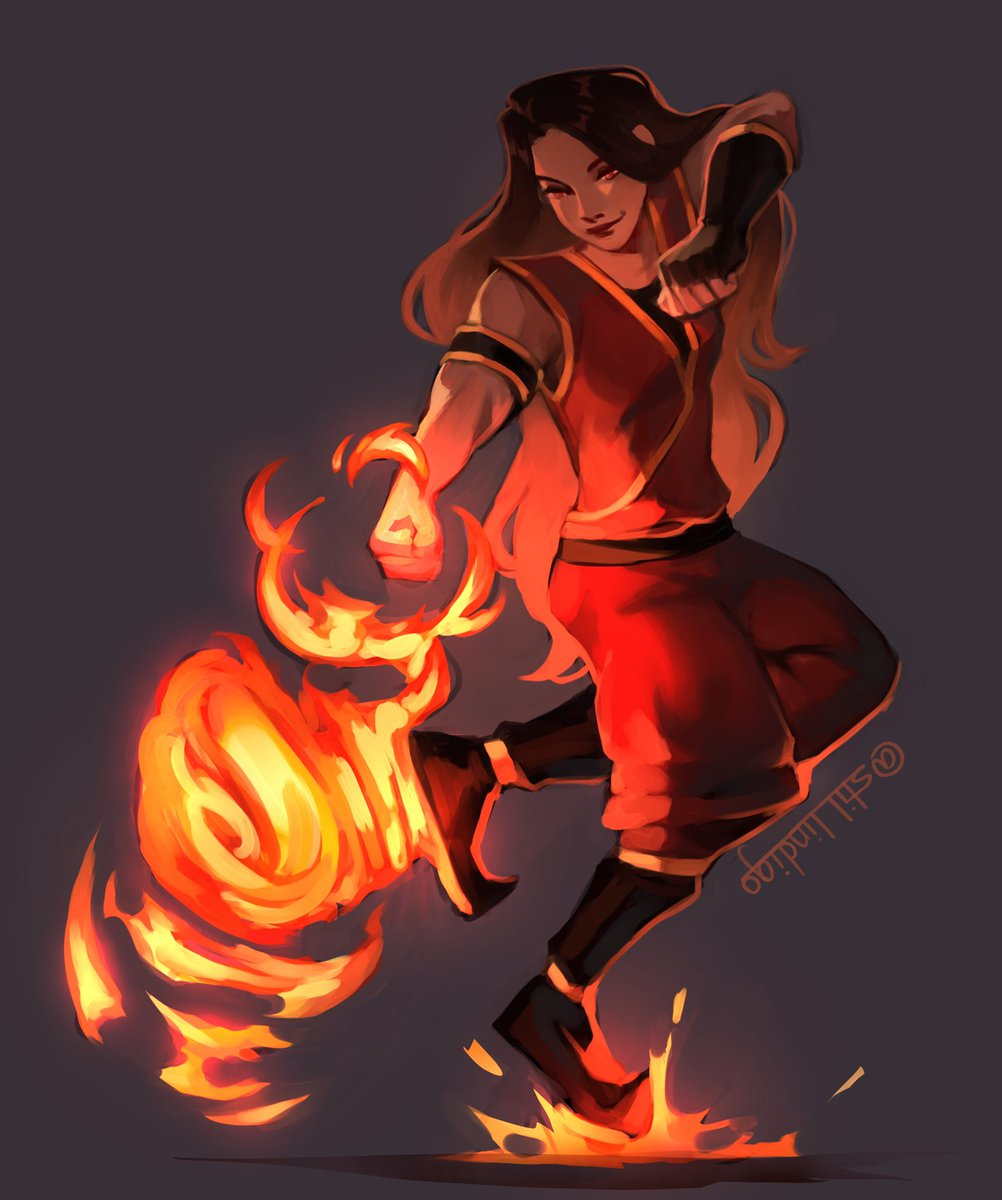 i know this is early but i drew @Valkyrae as a firebender for her birthday! Thank you Rae for brightening up the lives of so many people, and I'm looking forward to seeing you succeed even further in 2021 ❤️🔥
