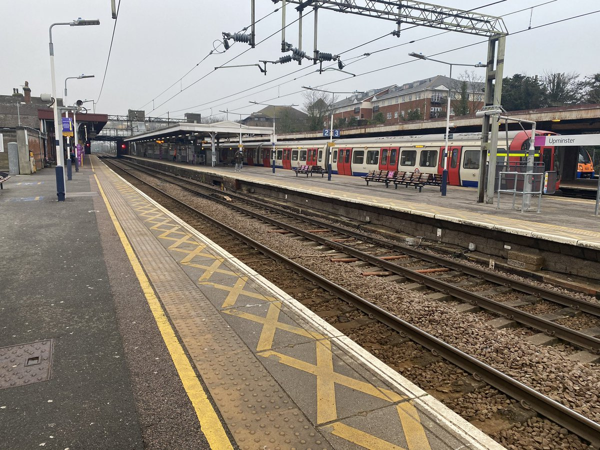 Rush hour at Upminster. At least people seem to be actually staying at home at the moment.