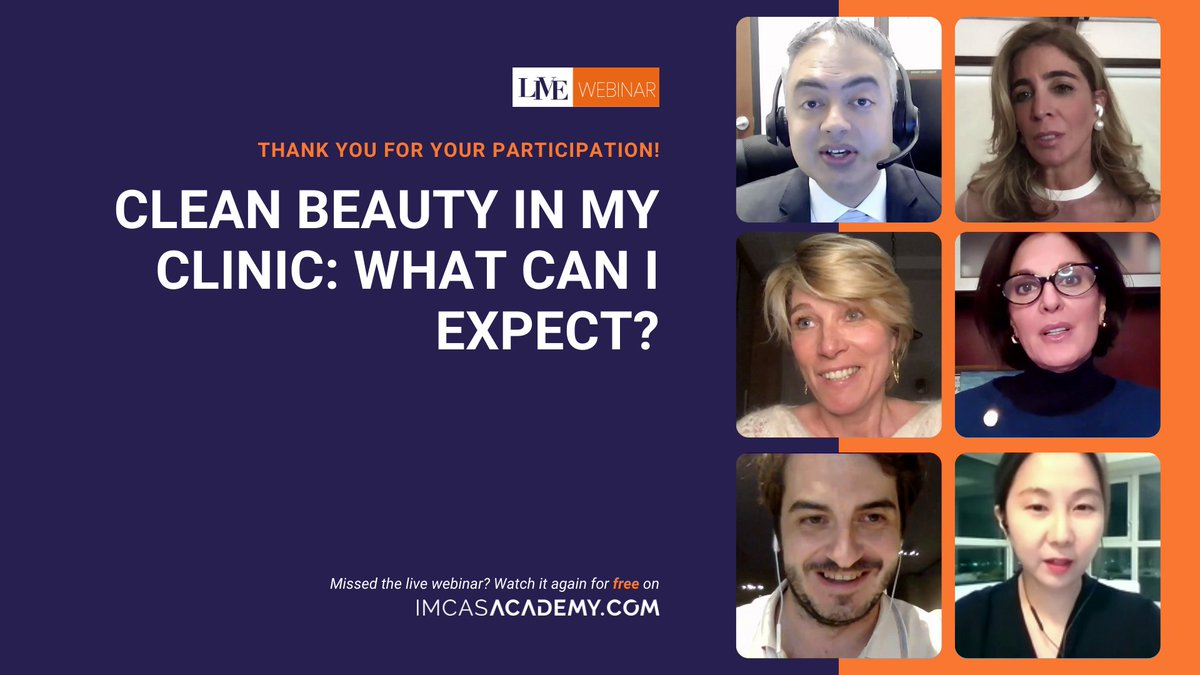 "- REPLAY THE WEBINAR -  Thank you to the 400+ who started off their 2021 learning season with IMCAS! Our recent webinar on ""Clean Beauty in my clinic: what can I expect?"" which you can now replay for free here 👉 https://t.co/36g7F7v5Pd https://t.co/8Qe7I7W10d"