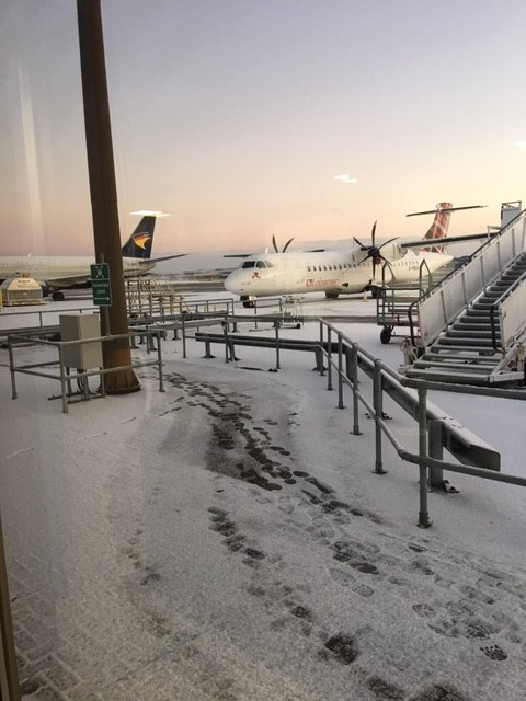 Snowy scenes this morning at Aberdeen Airport #BorderPolicingScotland