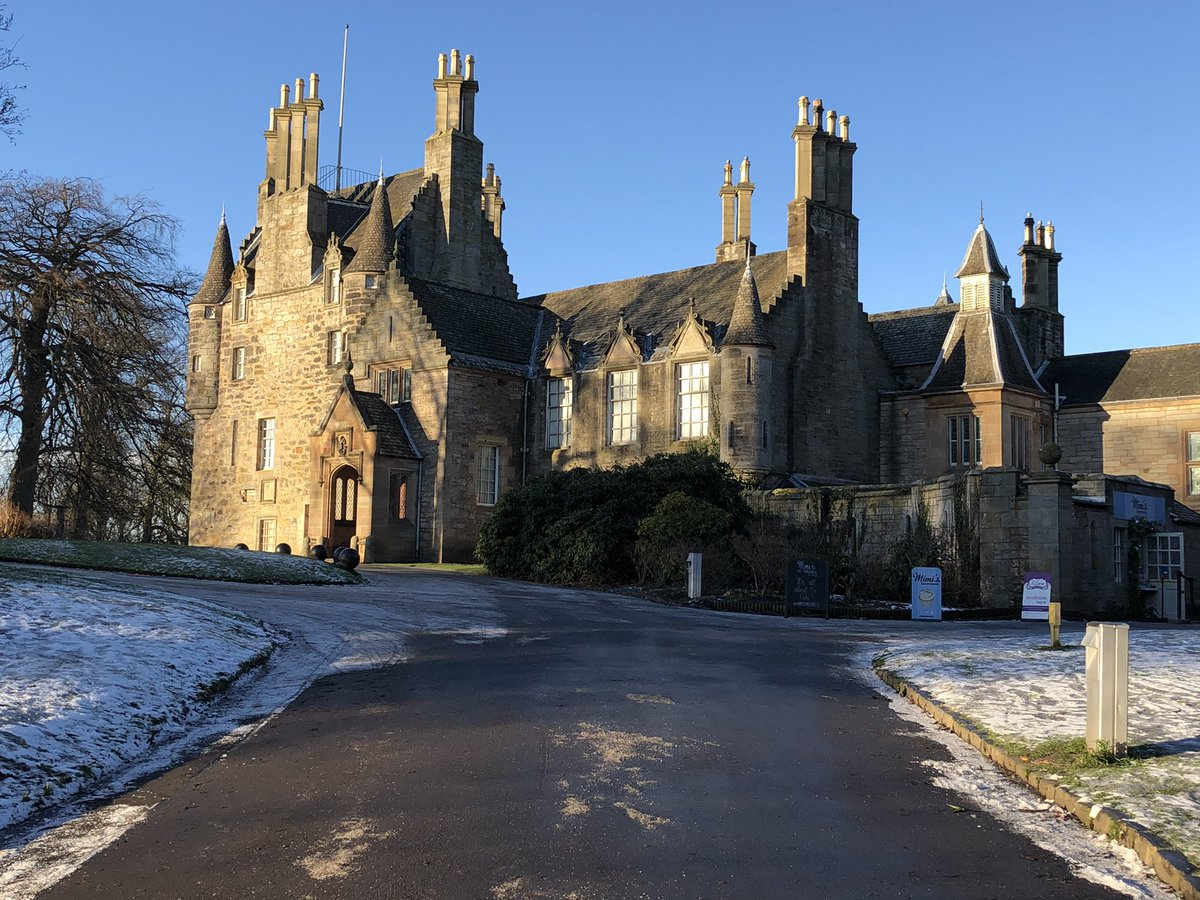A nice wee family winter walk today #lauristoncastle #edinburgh