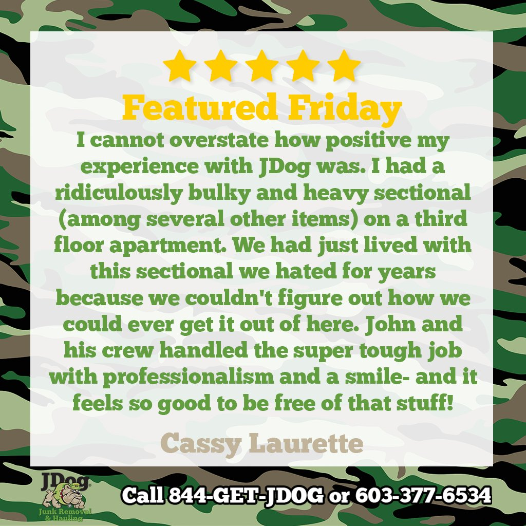 Bulky? Awkward? Heavy? Let us do the heavy lifting and find out why our customers are so happy with our service!   #JDog #localbusiness #veteranowned