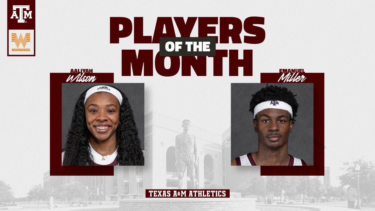 Your December @Whataburger Players of the Month: #GigEm