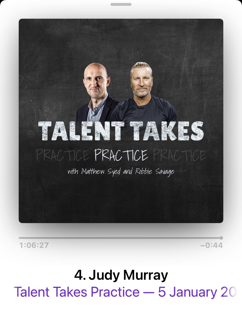 This 👇 #TalentTakesPractice Good listen for parents of sporting children but also coaches & teachers. - Early Specialisation - Volume of Practice v Ability - Managing Expectations   @RobbieSavage8