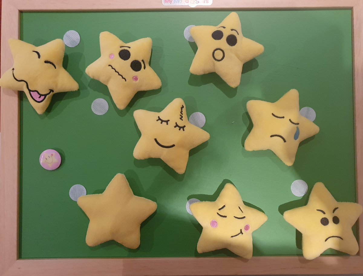 Children love getting involved in painting the My Mood Stars board! Do you have a school colour? What colour would you paint yours?  #teacher5oclockclub #edutwitter #primaryschool #earlyyears #MotherOfMoodStars    Now 21% off with the online code MMS21
