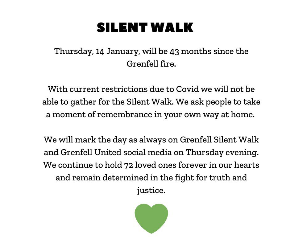 Thursday 14 January will be 43 months since the Grenfell fire ...