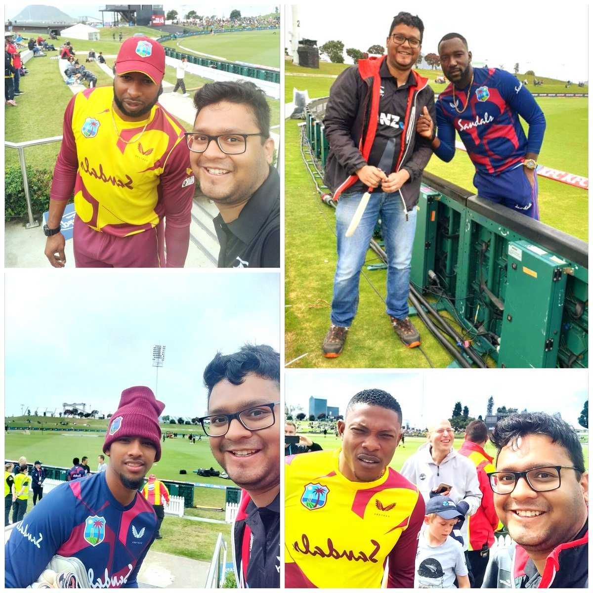 It was so good to meet the @windiescricket team this summer 😍🥳  @KieronPollard55 @BLACKCAPS #NZvWI #MenInMaroon #cricket #westindies #windies #pollard #kieronpollard #nicholaspooran #kesrickwilliams #sheldoncottrell #salute #TeamWI @BrianLara