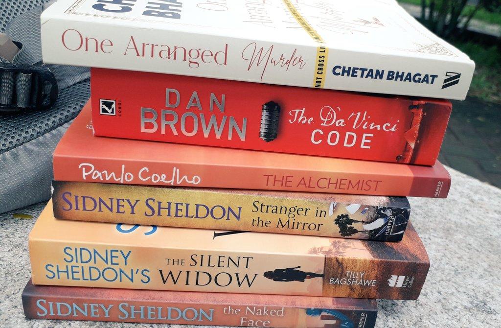New Year! New bunch of books! #Davincicode #books #OneArrangedMurder #thealchemist