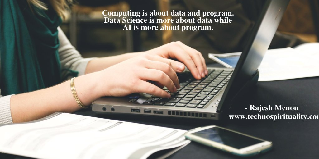 """The difference between AI and Data Science has overlaps""  #data #program #programming #IT #datascience #ai #technospirituality #quote #quotes #friday #fridayvibes #fridayquotes #fridaymood"