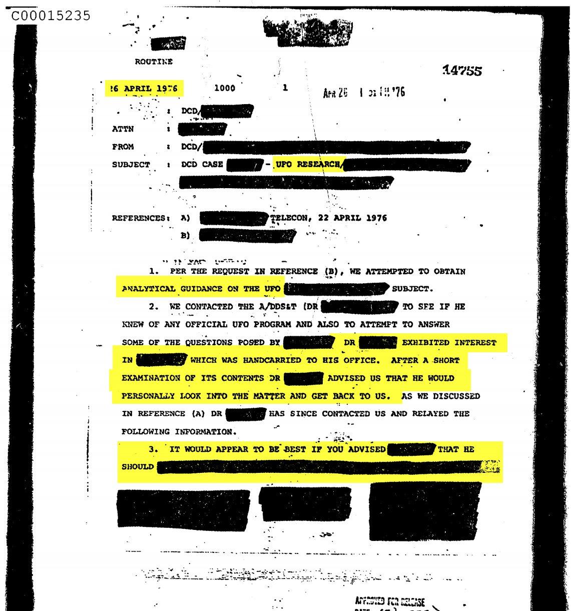 ЦРУ розсекретили інформацію про прибульців і НЛО