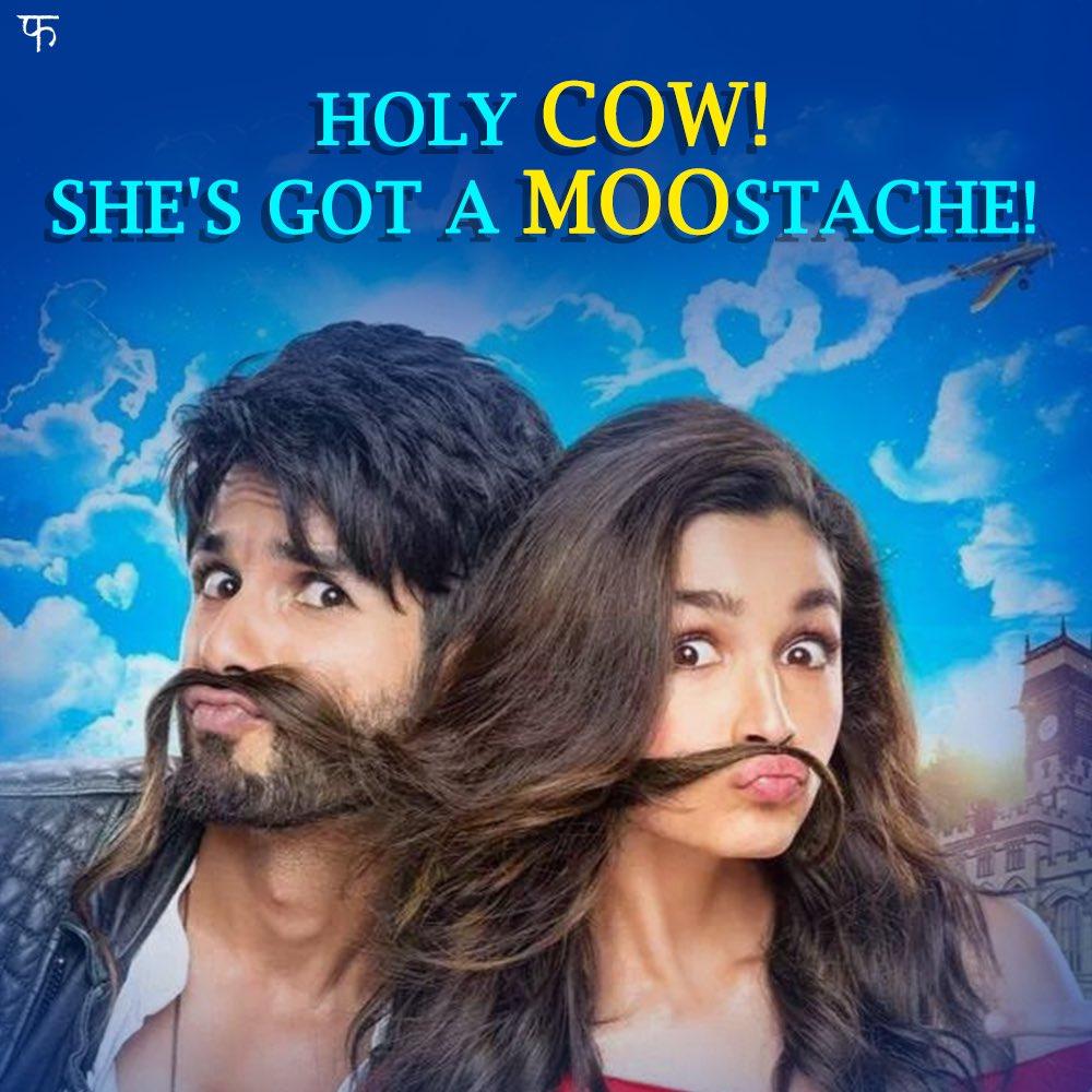 Gulaabo, zara mustache dikha do! #Shaandaar @shahidkapoor @aliaa08