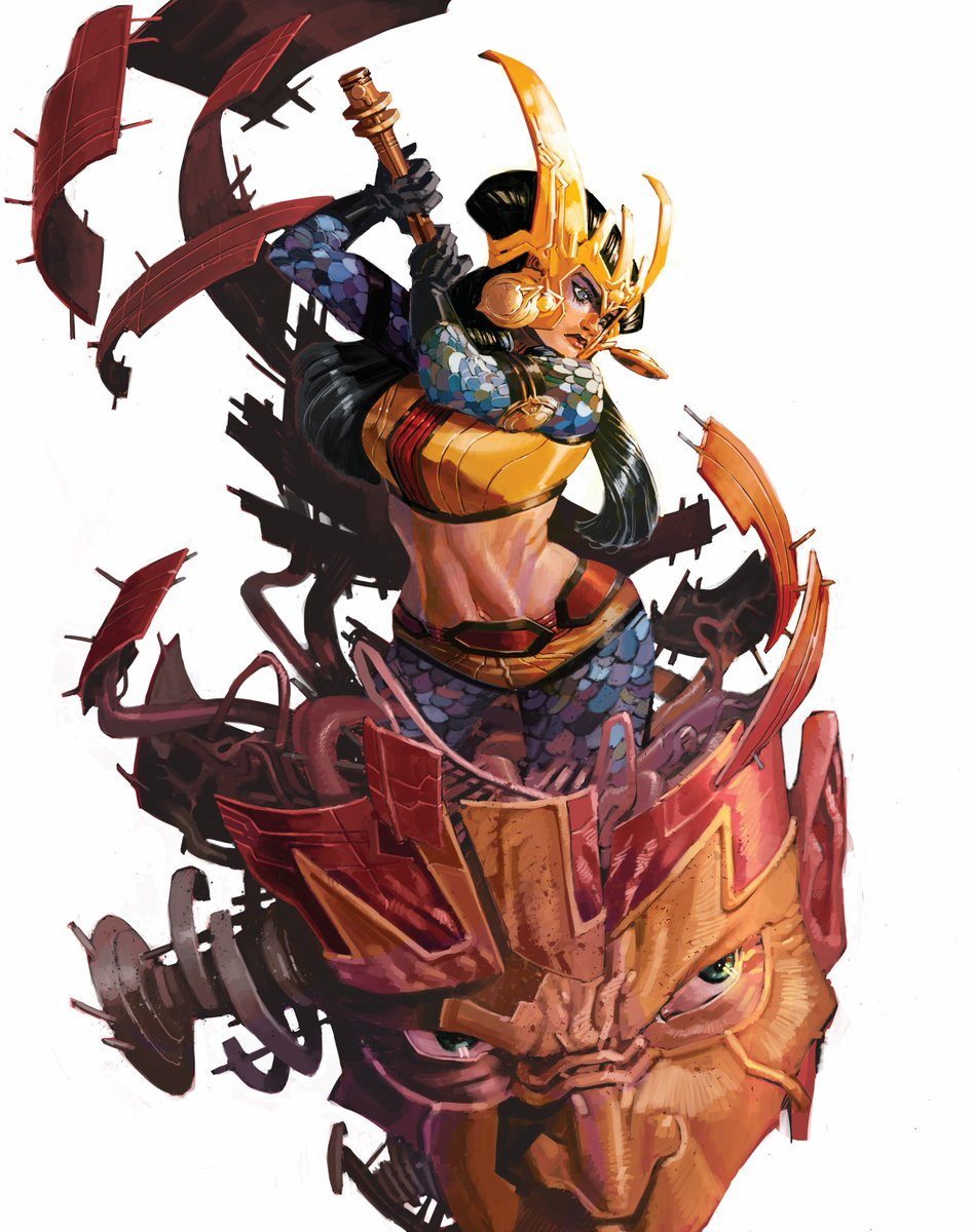 Does Twiter have a function which allows the user to choose which portion of the posted image goes on the thumbnail?  Here's Big Barda. Click on the link below to see the time lapse painting. Subscribe to my YouTube channel while you're there. Thanks!