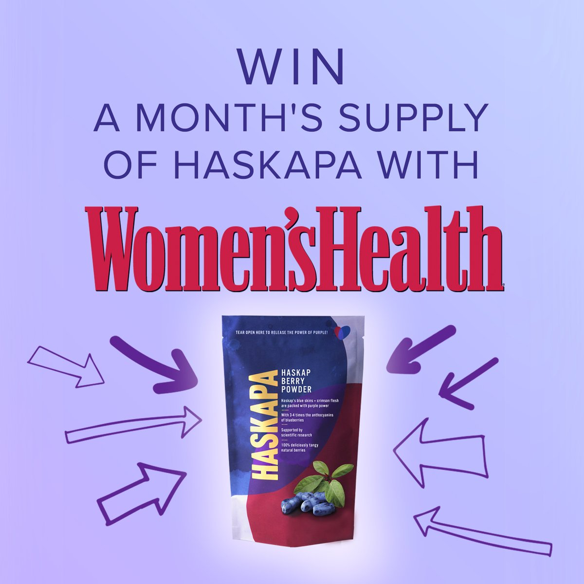 RT @Haskapa: One last competition to brighten up your January - thanks to @WomensHealthMag for the feature 💕 https://t.co/2jsu0BfuWu  #giveaway #competition #competitionalert #veganuary #veganuary2021 #healthyjanuary #NewYearNewMe #healthy #superberry #… https://t.co/LK9Ciehvka