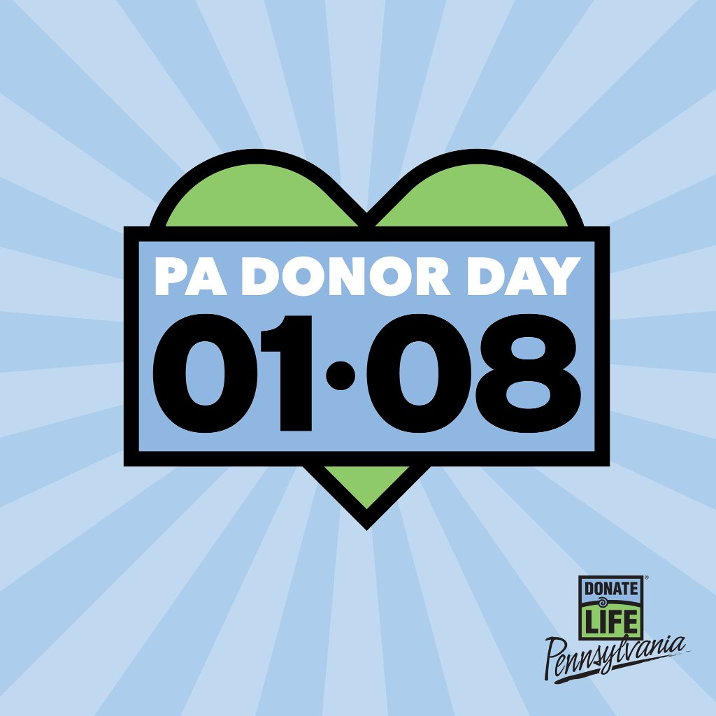 Today is PA Donor Day. Did you know that 1 person can save up to 8 lives as an organ donor? Learn more and register to become an organ donor: