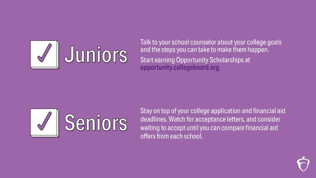 Here are some steps you can take this month to keep up with your college planning.