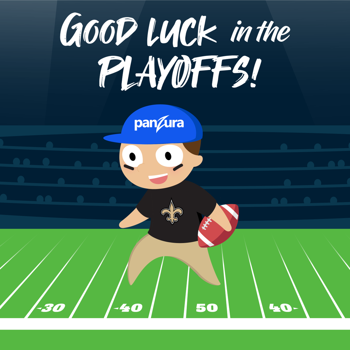 Who dat? Fastest players on the field, dat's who!   Very proud official hybrid cloud sponsor, right here   GO @Saints GO!  💪  ⚜️ 🏆 https://t.co/ftjn1c11Go
