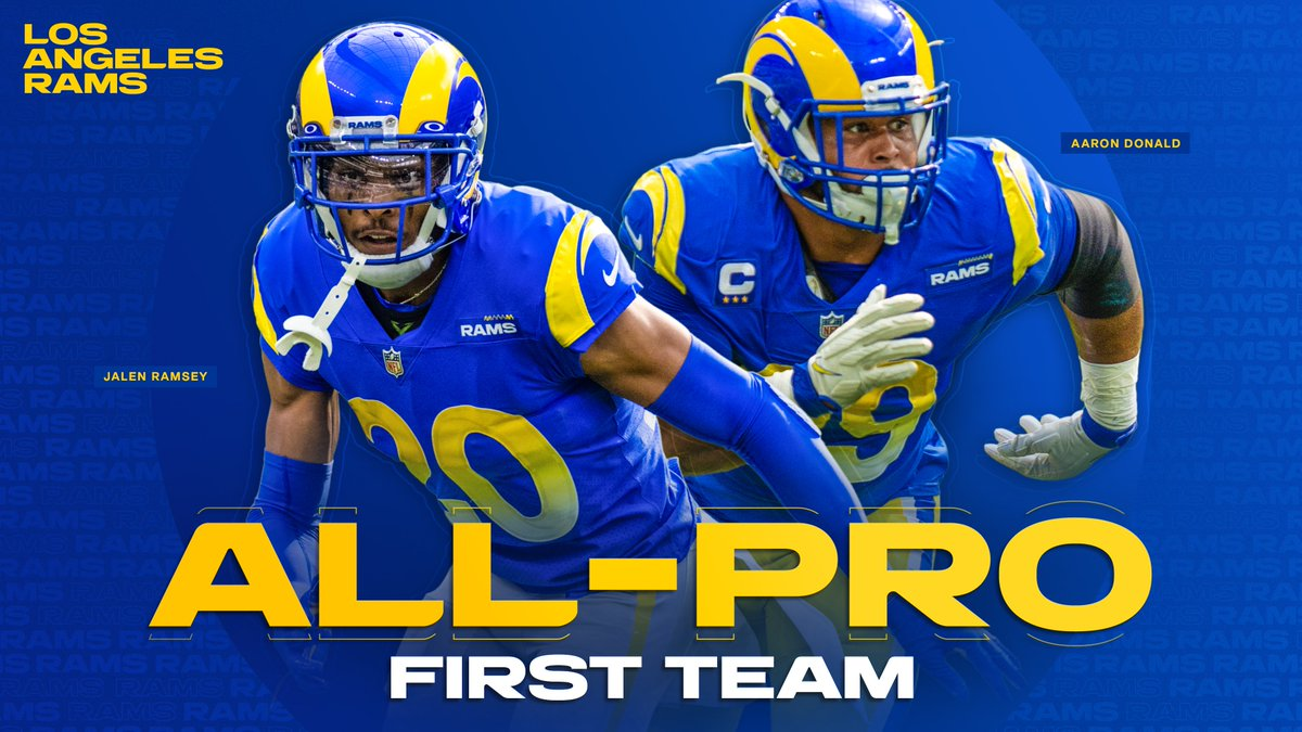 Congratulations to @AaronDonald97 + @jalenramsey for being named First Team All-Pros 👏  📰 »