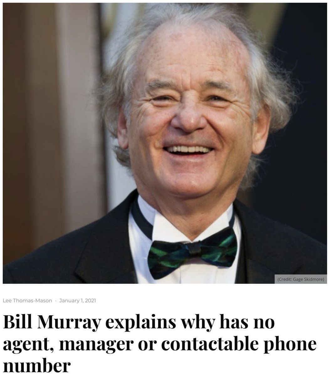 "Let's hear it from the ""new year, same me"" crowd in the back.  #WilliamMurray #ZFG #BillMurray #Murrayisms #MurrayMoments https://t.co/V22nBtdply"