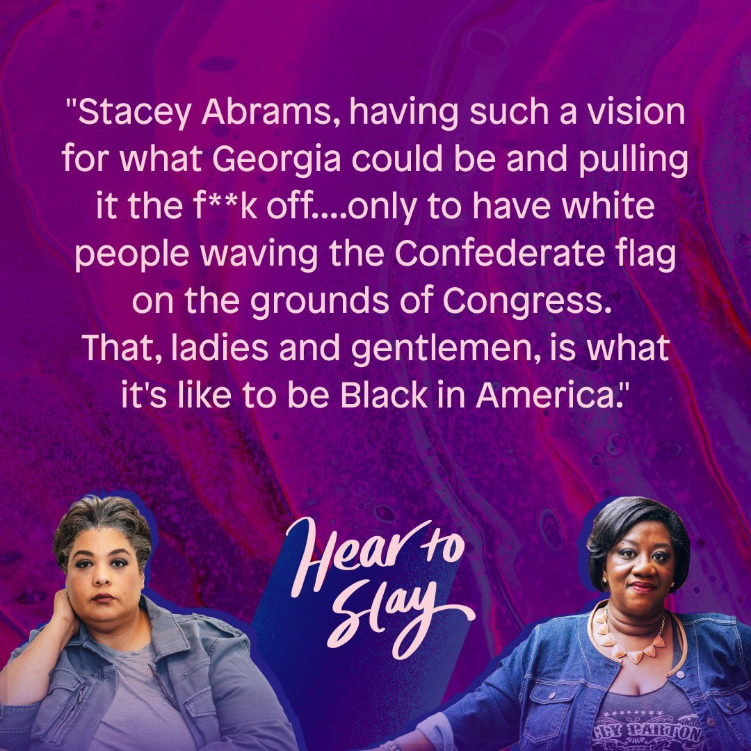 Typically @HearToSlay drops new episodes on Tuesdays but THIS episode needed to drop today. Listen to @rgay & @tressiemcphd break it all down here: